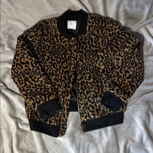 Cheetah print Zara girls jacket size 11/12